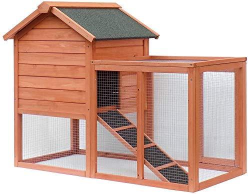 Großer Kaninchen-Aufbewahrungsbehälter aus hoch Holz, ideal für den Außeneinsatz, leicht zu reinigen Toilette Schublade - Kleintier Aufbewahrungsbox,Wood