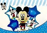 Generisch Juego de globos de Mickey Mouse, para fiestas de cumpleaños infantiles, 5 unidades