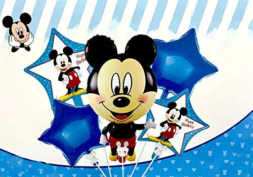 Generisch Ballon-Set Mickey Mouse, Party Kindergeburtstag, Luftballon, Set, 5-teilig