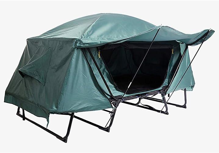 XHHSH Double Camping de Montagne Gratuit Multi-Fonction à Deux étages de pêche Construit Tente Hors-Sol Camouflage Wilderness Adventure