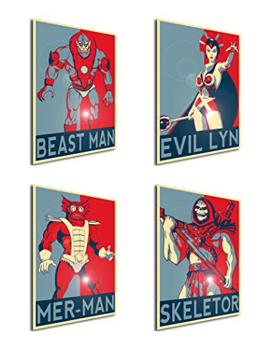 Instabuy Set von 4 Mini-Poster Propaganda Masters of The Universe 01