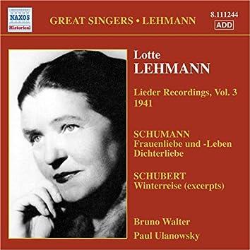 Lehmann, Lotte: Lieder Recordings, Vol. 3 (1941)
