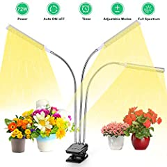 Timing Function & Auto On/Off: Grow light is very useful and convenient. It can be timed to 3, 6,12 hours as the plant needs, bringing enough but suitable brightness to your plant. With auto on/off function, there is no worry about plant withering wh...