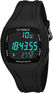 3D Pedometer Alarm Chronograph Montre Multifunction Jam T Men Digital Wrist Watch Waterproof Black