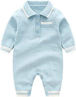 LILIZHAN Baby Jungen Mädchen Strick-Overall Kleidung Neugeborenes Säugling Kleinkind Warm Einfarbig Winter Strampler