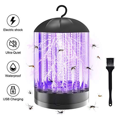 X99 - Mosquitera eléctrica 3 en 1, con conexión USB, lámpara antimosquitos y moscas, para uso en interiores y exteriores
