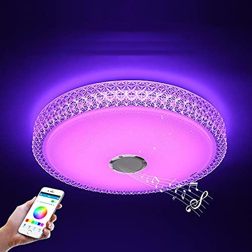 SDlamp 40 cm Sencillos y Modernos LED de RGB LED, App + Lámpara de Techo Inteligente del Dormitorio con Control Remoto, para la Fiesta Familiar de la habitación de la habitación para niños