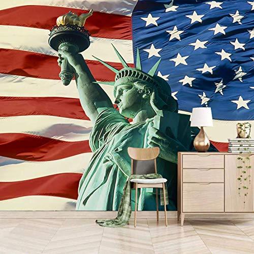 Msrahves tapeten flur Berühmt Skulptur Flagge kreativ 3D Tapete Wandtapete Ziegelstein Wandaufkleber Wandbilder Dekorfolie Klebefolie Verdicke für Bar Cafe Friseursalon