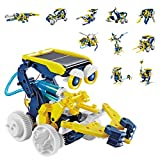 AOKESI STEM Toys Solar Robot Kit 11-in-1 Robot Building Kit for Kids Aged 8 and Older, Educational Science Toy Robotics for Boys Girls - Build Your Own Robot!