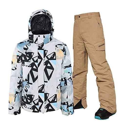LUKHXF Snowboard imperméables Veste Coupe-Vent Neige Manteau de Surf des neiges et Pantalon Set (Color : B, Size : XL)