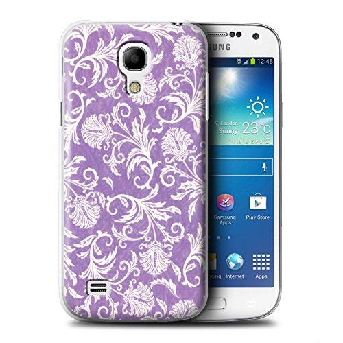 STUFF4 Telefoonhoesje/Hoes voor Samsung Galaxy S4 Mini/Paars Achtergrond Ontwerp/Bloemenpatroon Collectie/door Deb Strain/Penny Lane Publishing, Inc.