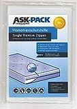 ASK Pack Premium Matratzenschutzhülle Single mit REIßVERSCHLUSS für bis zu 100cm breite / 30cm...