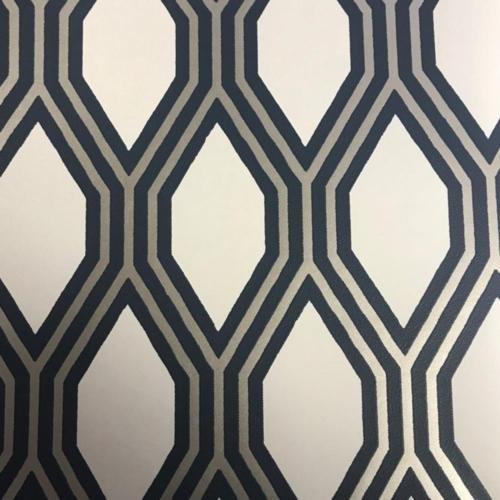 A-Street Prints Honingraat Geometrisch Behang, Navy, 20.5-Inch x 33 ft