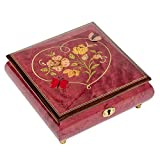 Splendid Music Box Heart Butterfly Italian inlaid music box/jewelry box with customizable tune options