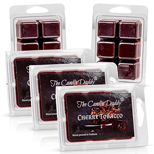 The Candle Daddy Cherry Pipe Tobacco - Maximum Scented Wax Cubes/Melts- 5 Packs -10 Ounces Total- 30 Cubes