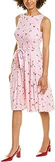 Anne Klein womens COTTON FIT & FLARE DRESS Dress