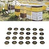 Etichetta dell'alveare, etichetta numerata resistente alla corrosione e durevole per il controllo delle malattie dell'allevamento di animali nell'apicoltura(Nero giallo)
