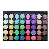 Tefamore Paleta De Sombra De Ojos 40 Colores De Polvos Cosméticos En Maquillaje Conjunto De Mate Disponible(Popfeel) (B)