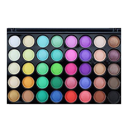 Tefamore Paleta De Sombra De Ojos 40 Colores De Polvos Cosméticos En Maquillaje Conjunto De Mate Disponible(Popfeel)