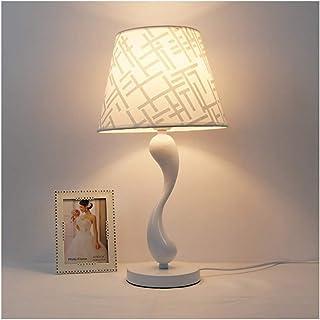 WFL-lámpara de escritorio Lámpara de mesa - Nordic creativo regulable turística claro, blanco Hierro forjado Tela E27 * 1,...