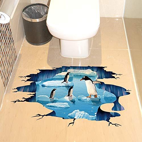 Gudojk Pinguin-stickers, vinyl, voor het zelf maken van ijsblokjes, dieren, tegels, zelfklevend, voor kinderen, slaapkamer, toilet, decoratie van het huis