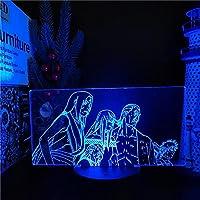 NARUTO HOKAGE 3D夜ライトLEDランプファイブキージアニメフィギュアランパラKazekage Raikage Tsuchikage Mizukage Home Decoration Lamps-接する