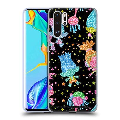 Head Case Designs Licenciado Oficialmente Trolls Silhouette Sparkles Tribalicious Patterns Carcasa de Gel de Silicona Compatible con Huawei P30 Pro