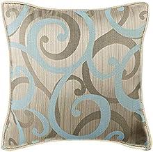 Decorative Cushion Covers 35 x 35 cm Blue, Silk Throw Pillow Cushion Covers, Handmade Cushion Covers - Scrolling All The W...