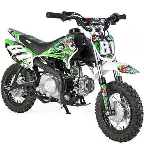 Dirt Bike niño 90cc 4T recinto Auto–Verde, Sin montaje, se envía en caja