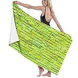 Grande Suave Ligero Microfibra Toalla de Baño Manta,Muro Verde para,Hoja de Baño Toalla de Playa por la Familia Hotel Viaje Nadando Deportes Decoración del Hogar,52' x 32'