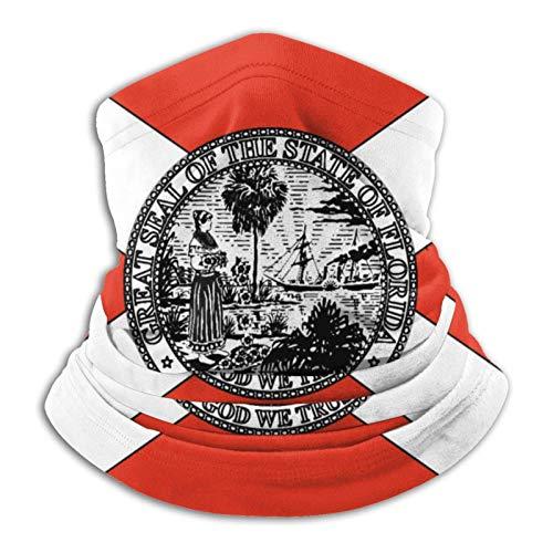 Calentador de cuello de la bandera del estado de Florida, bandanas, polaina para el cuello, bufanda variada, transpirable, negro suave