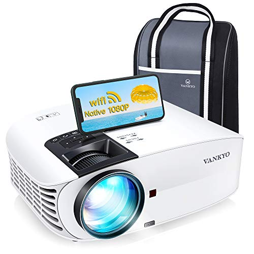 VANKYO Leisure 510PW Native 1080P Projector, Upgraded 5G WiFi Projector with Built-in Office Software, Portable Movie Projector with ±60° 4D Keystone/Zoom Function, Compatible w/TV Stick, HDMI, PS4