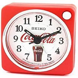 SEIKO 2 Coca-Cola Silent Snooze Night Light Alarm Clock