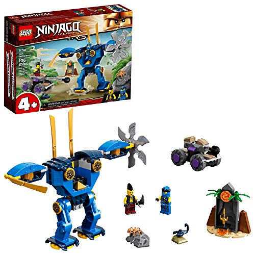 LEGO NINJAGO Legacy Jay's Electro Mech 71740 Ninja Toy Building Kit Featuring Collectible Minifigures; Great Gift for Kids Aged 4 and Up Who Love Imaginative Toys, New 2021 (106 Pieces)