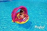 Perfect Pools Flotador Inflable Para Piscina Para Bebs - Anillo de Natacin Beb Rosquilla Asiento para Nios Pequeos con Sombrilla para Nios de 6 a 36 meses Nios Pequeos