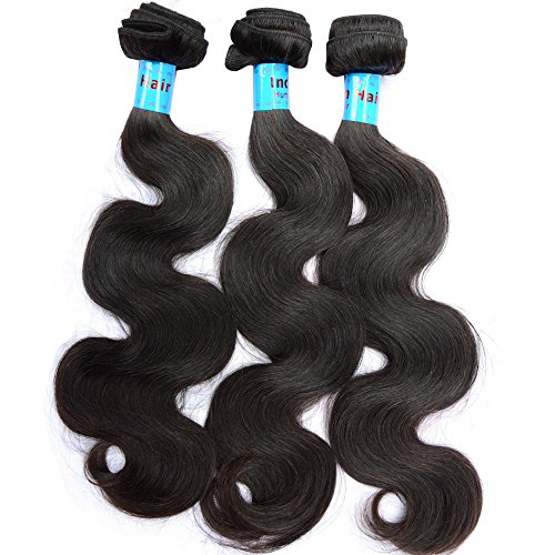 NOBLE QUEEN Hair Lot de 3 extensions de cheveux humains vierges russes ondulés de 45,7 cm, 45,7 cm, 50,8 cm