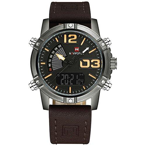 Relógio Masculino Naviforce 9095 - Marrom Preto