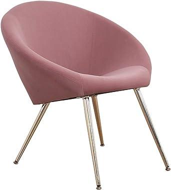 Velvet Accent Chairs with Arms,Mid Century Modern Dining Chair Elegant Velvet Club Chair Modern Golden Metal egs Home Kitchen