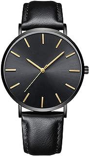 Triskye Men's Watches, Fashion Ultra Thin Men and Women Quartz Watch Movement Watch On Sale Clearance Classic Luxury Leather Casual Quartz Wrist Watch