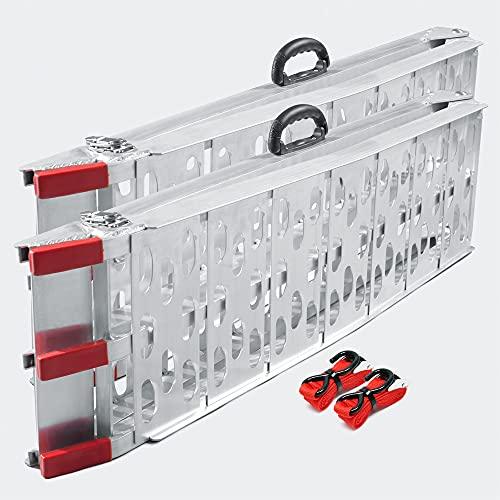 Wiltec Due Rampe di carico Pieghevole in Alluminio per Moto e Quad 226cm 680kg