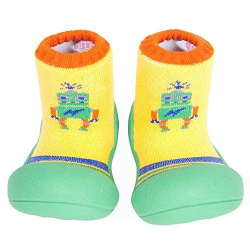 Attipas [Atipasu Chaussures pour bébé [Robot] S (10.8cm) :. 1 Vert