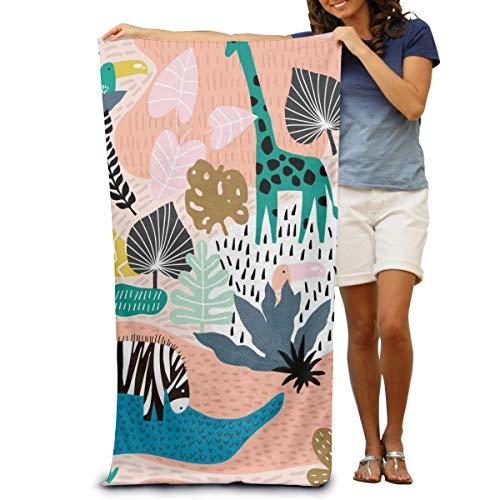 Sunny R Toallas de Playa Personalizadas para Adultos Toallas de Baño de Microfibra Zebra y Tucan para Viajes de Playa a la Piscina