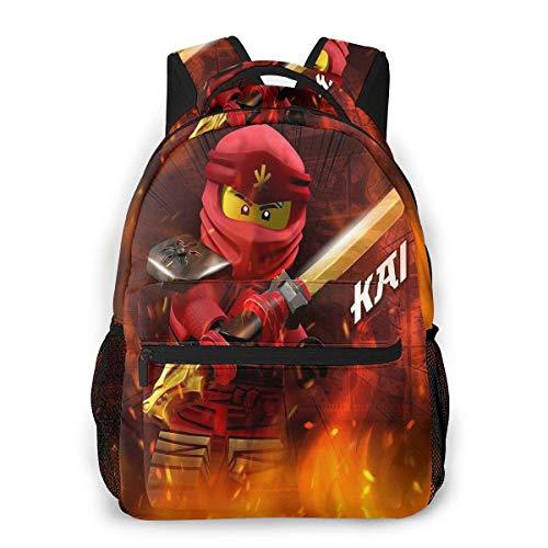 Yuantaicuifeng Ninj-ago Rucksack, Unisex, eleganter Rucksack für Jungen und Mädchen, Reisetasche für Studenten