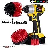 Drill Brush - Drill Pinsel Leistung Scrubber - Drill Aufsteckbürste für Reinigung - Strom Scrubber Drill Brush - Nylon Drill Brush - Grout Drill Brush - Drill Scrubber Befestigung - Drill-Pinsel-Set