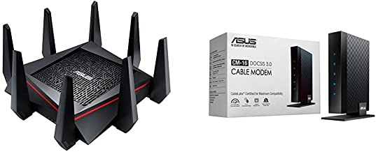 Asus AC5300 Tri-band Wireless router (RT-AC5300) with DOCSIS 3.0 16x4 Cable modem ( CM-16) Kit