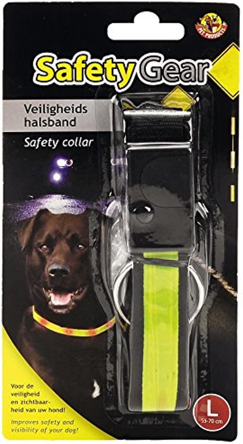 BEEZTEES Safety Gear Safety Collar with Lamp, 55  70 cm x 25 mm, Yellow