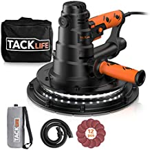 TACKLIFE Handheld Drywall Sander, Automatic Vacuum System & LED Light, 12 Pcs Sanding..