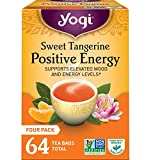 Yogi Tea - Sweet Tangerine Positive Energy - Supports Elevated Mood and Energy Levels - 4 Pack, 64...