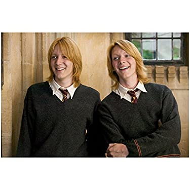 Harry Potter James and Oliver Phelps Weasley Twins Fred and George Shoulder Length Hair 8 x 10 Photo