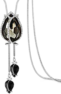 Guoainn Fashion Women Long Dress Sweater Chain Tulip Pendant Ornament Necklace Jewelry